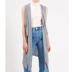 Topshop Sleeveless Cardigan Flowy Sweater Vest